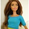 Barbie Made to move top azzurro